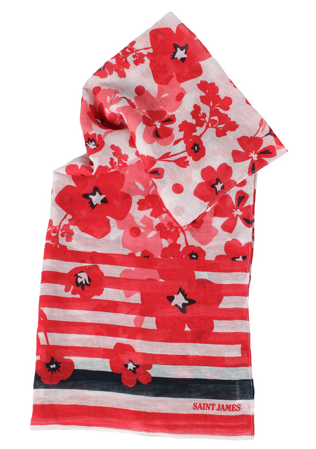 Accessories for women - FOULARD FLORAL - Saint James