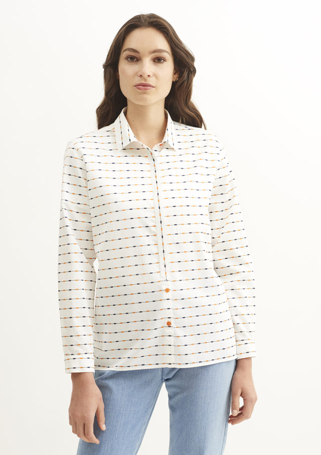 Blouse for women - ROZENN ML - Saint James