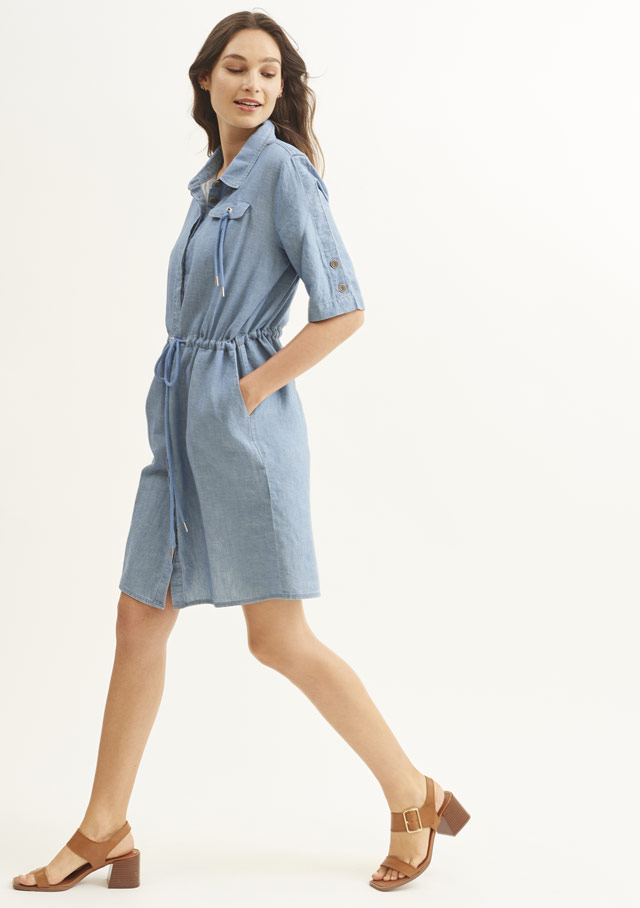 Dress for women - JOHANNA II DENIM - Saint James