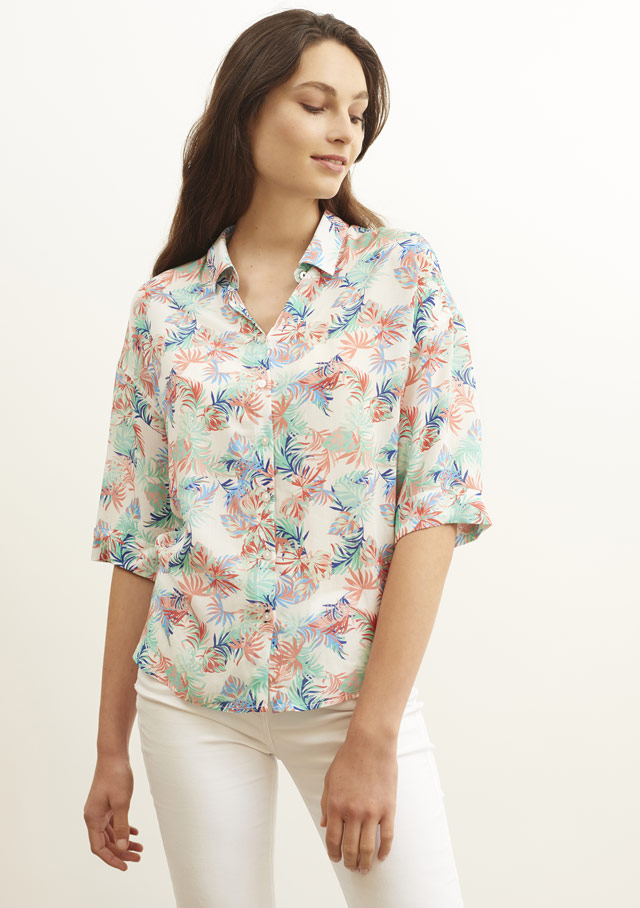 Blouse for women - CLEMENCE M3/4 - Saint James