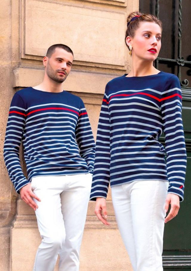 Nautical T-Shirts for women - AIR FRANCE - Saint James