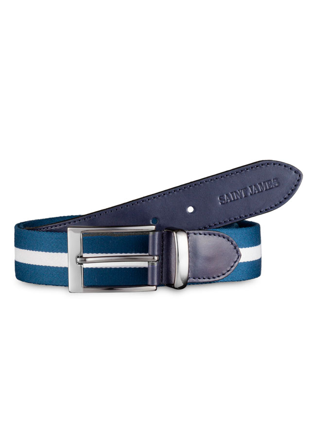 Accessories for men - CEINTURE SANGLE BICOLORE - Saint James