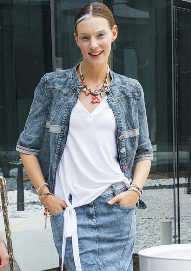 Jacket for women - JEAN JACKET - Elisa Cavaletti