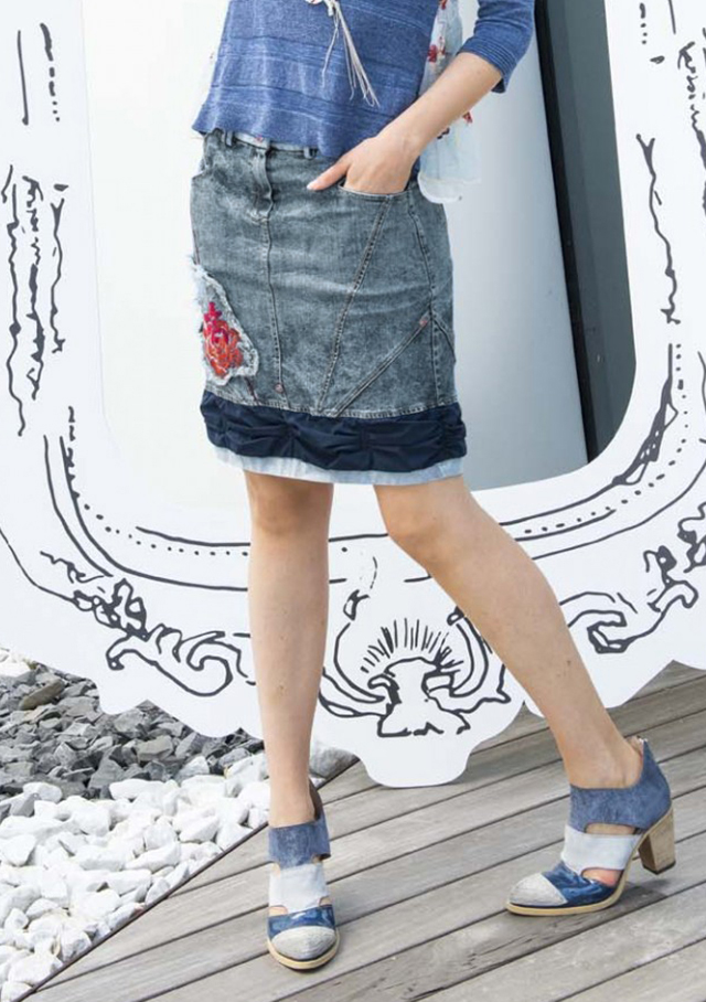 Skirt for women - JEAN SKIRT - Elisa Cavaletti
