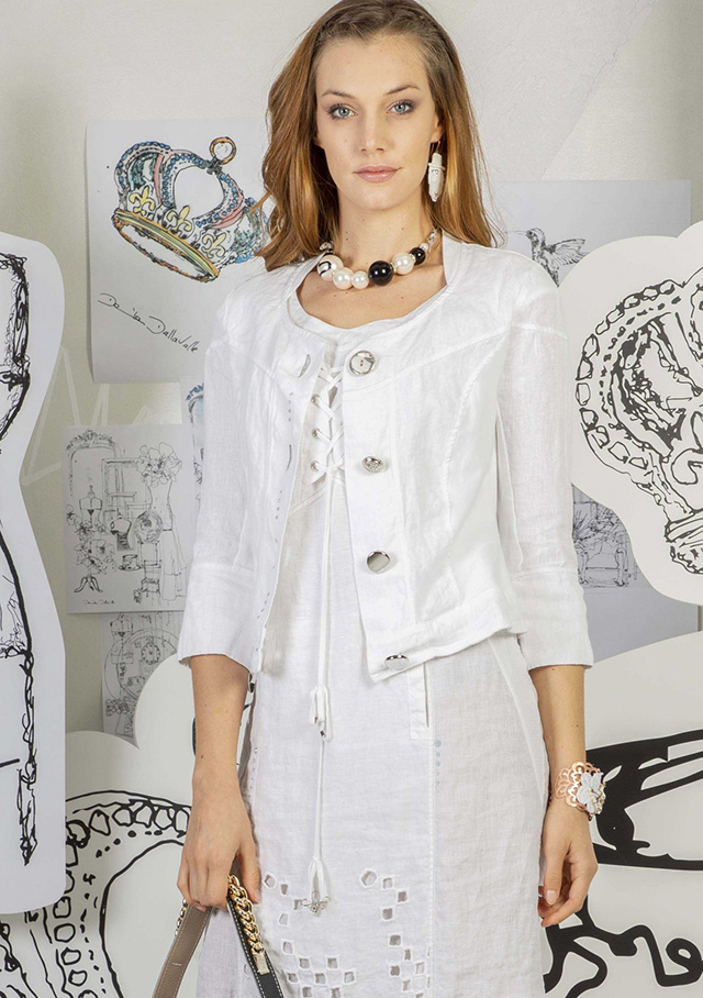 Jacket for women - LINEN JACKET - Elisa Cavaletti