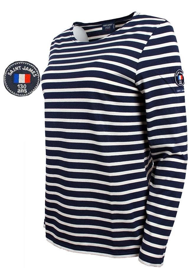 ca6b5c59bc Nautical T-Shirts for women - MINQUIDAME 130 ANS - Saint James
