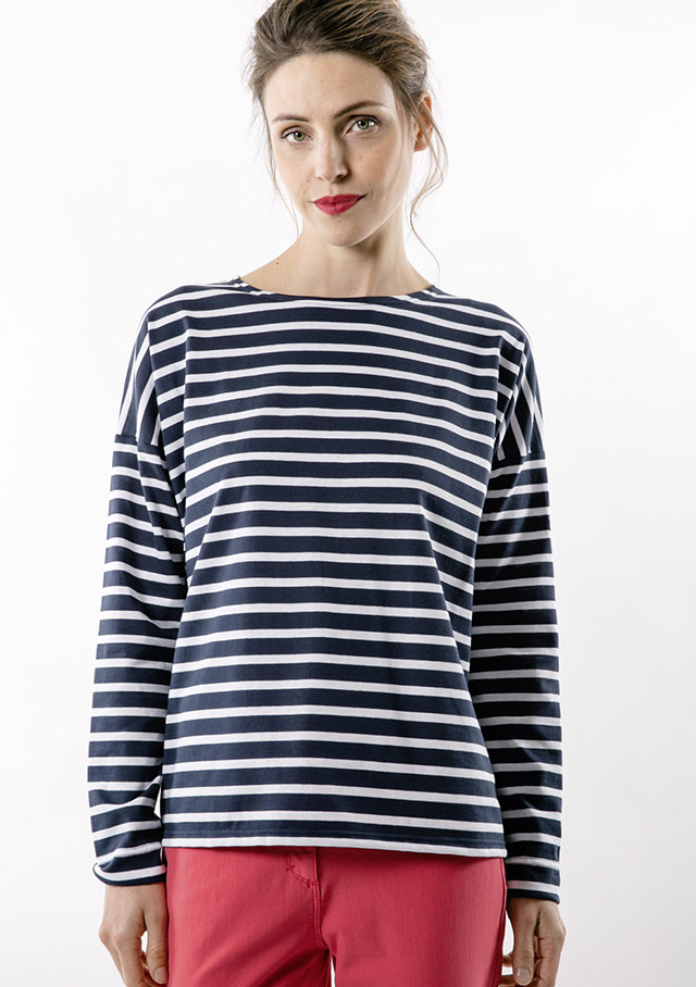 Nautical T-Shirts / T-shirt for women - MINQUIERS DROP - Saint James