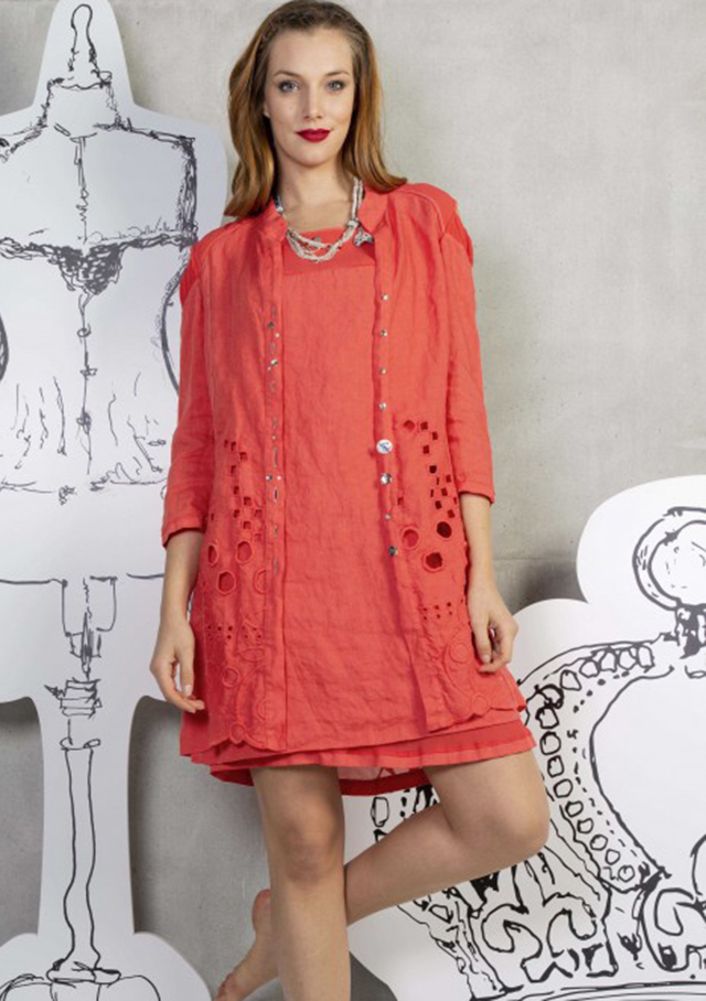 Dress for women - LINEN DRESS - Elisa Cavaletti